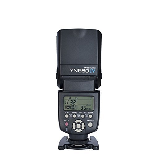 Yongnuo YN560 IV Speedlite Wireless Flash with Master and Slave (Black)