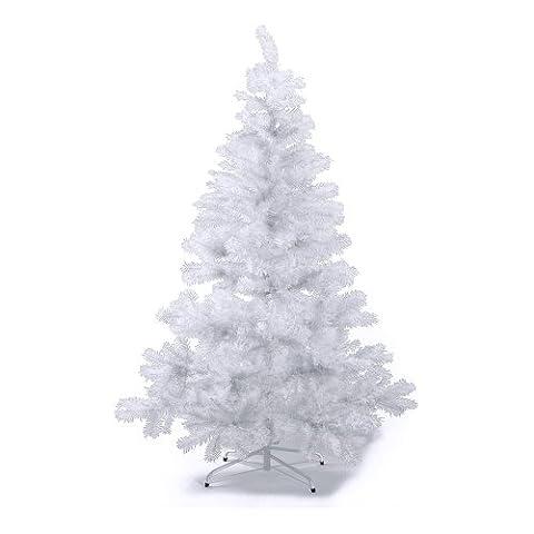 HAB & GUT (XM036) Sapin de Noël artificiel / sapin coloré blanc - Hauteur: 180 cm