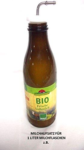 Preisvergleich Produktbild Schwarzwälder Bio H-Milch passend zur Milchflasche das Anschluss-Set für Kaffeevollautomaten