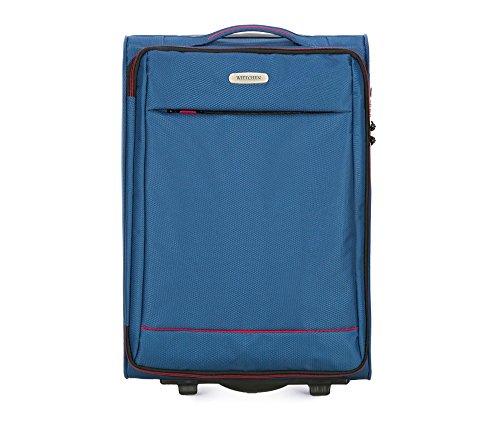 WITTCHEN Kleiner Reisekoffer | Farbe: Blau | Material: Polyester | Größe: 54 x 36 x 20 cm | Gewicht: 2.1 kg | Kapazität: 33 L | Sammlung: Bon Voyage | 56-3S-461-90