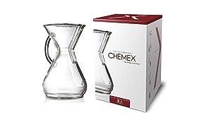 Chemex Kaffee-Karaffe (mit Glasgriff, für bis zu 8 Tassen)