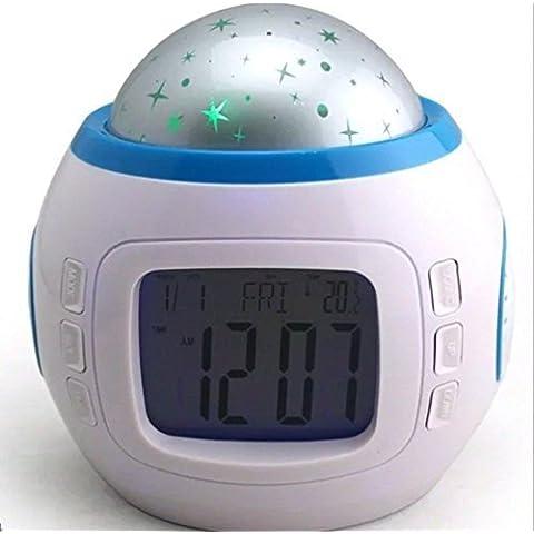 Gearmax® Dormir Música Niños Sala Cielo de la estrella del proyector ligero de la lámpara despertador