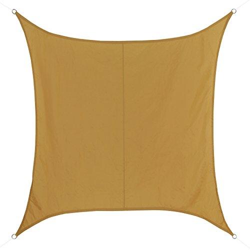 BB Sport Toldo Vela con Forma Cuadrado Disponible en Diferentes tamaños y Colores - Repelente al Agua 100% poliéster (PES), Tamaño:3m x 3m, Color:Terracota