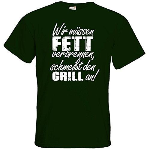 getshirts - SizzleBrothers Merchandise Shop - T-Shirt - SizzleBrothers - Grillen - Fett verbrennen Bottle Green