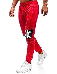 BOLF Pantaloni di Tuta – Tipo Jogger – con Coulisse – Tasche con Zip – Stile Street – da Uomo Mix 6F6