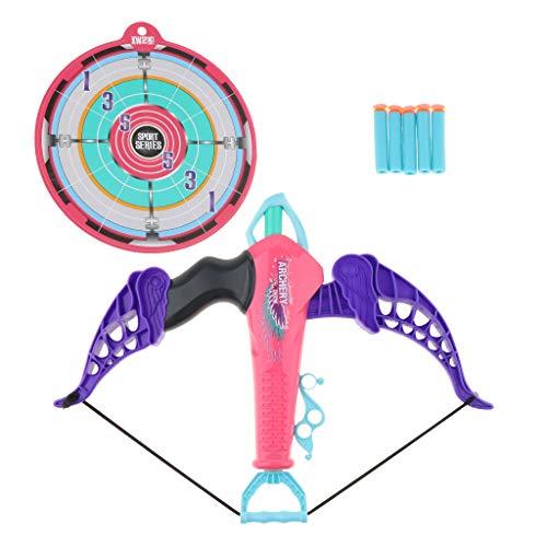 Unbekannt Homyl Kinder Bogen & Pfeil Bogenschießen Set Und Ziel Outdoor Garten Spielzeug - Rosa