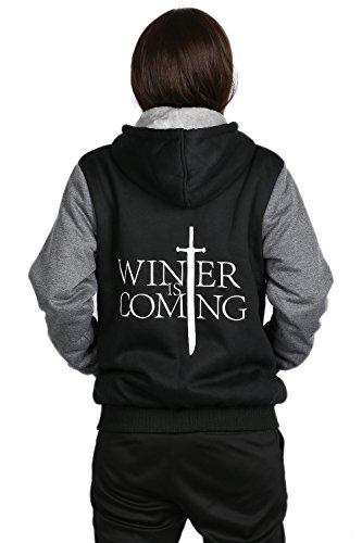 Winter Pullover Hoodie Herren Dick Plus Samt Pulli Sweatshirt Mantel Jacke Cosplay Kostüm Kleidung für Erwachsene (Anime Cosplay Kostüm Plus Größe)