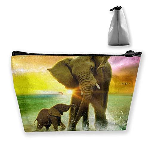 t Afrika Elefant Stift Briefpapier Federmäppchen Kosmetik Make-up Tasche Beutel ()