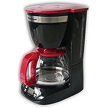 Mx Onda MX-CE2258 - Cafetera de goteo con temporizador, color negro y rojo