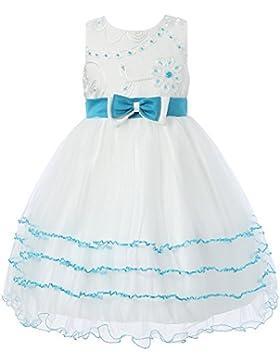 Richie House Girls' Prinzessin Kleid mit Schichtboden RH1390