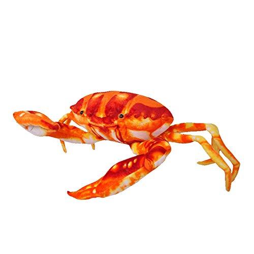 zhenxin Juguete de Peluche 38cm Ocean Creatures Felpa Cangrejo cojín muñeca Linda Relleno Animal Marino Juguetes para niños bebés cumpleaños Regalos decoración casera