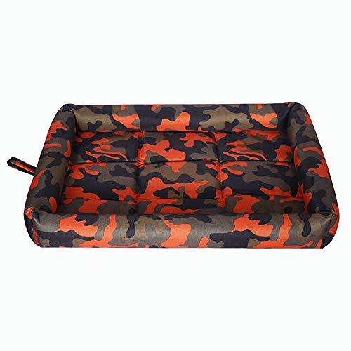 Katzenstreu Kostüm - YWJHY Haustier-Frühlings-Sommer-kühle Auflage beständige Kratzerbiss-Hundeauflage-Katzenstreu,Orange,XL