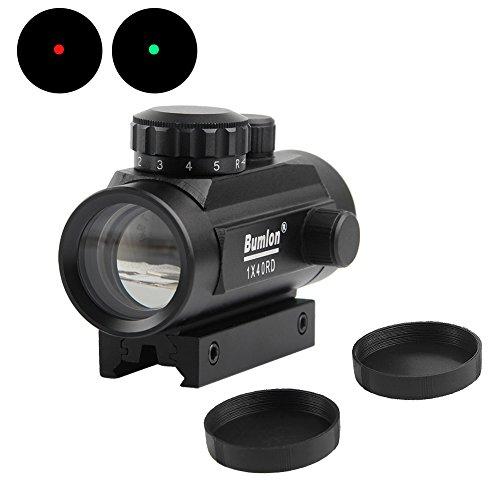 Bumlon Rot Grün Dot Sight Umfang Reflex Holographische Rifle Optics Tactical Passt 11mm/20mm Schiene für Airsoft - Airsoft Sight