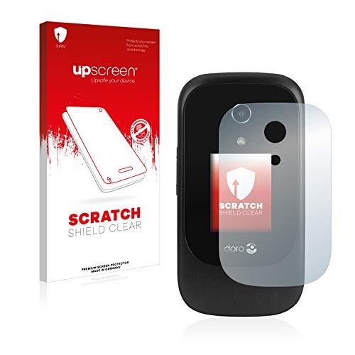 upscreen Scratch Shield Schutzfolie kompatibel mit Doro 7060 (Äußeres Bildschirm) - Kristallklar, Kratzschutz, Anti-Fingerprint