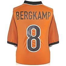 1998-2000 Camiseta de casa holandesa firmada por Dennis Bergkamp