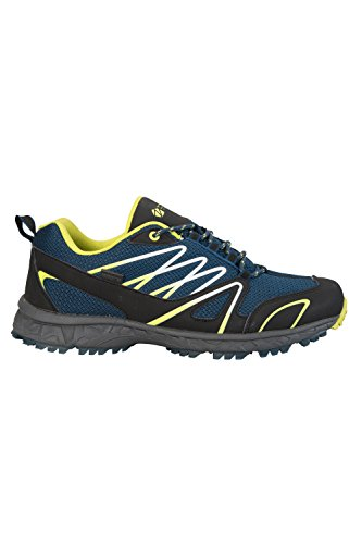 Mountain Warehouse Chaussures Homme Running Sport Imperméable Semelle Eva Enhance Bleu Canard
