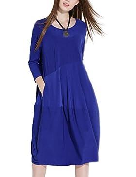 A Principios Del Otoño Ropa De Mujer Tocando Fondo Tejido Yardas Grandes Suaves Vestidos