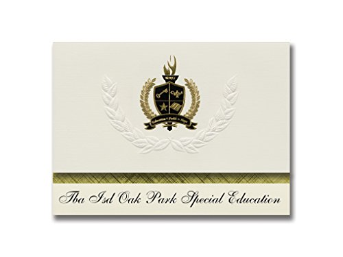 Signature Ankündigungen TBA ISD Oak Park Spezielle Bildung (Traverse City, mi) Graduation Ankündigungen, Presidential Elite Pack 25mit Gold & Schwarz Metallic Folie Dichtung (Traverse Pack)