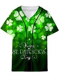 Kobay Donna Uomo ST. T-Shirt per Camicetta con Top a Manica Corta Verde 64e0cf4c49eb