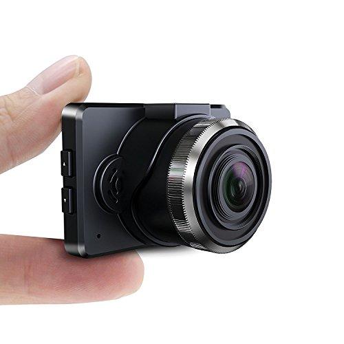 Caméra de Voiture DashCam 1080P HD Conbrov –Caméra Embarquée Voiture Écran LED 1,5 Pouces Enregistreur de Conduite avec Vidéo, Capteur-G, Enregistrement en Boucle et Vision Nocturne, Photos (Carte SD Non Incluse) T17