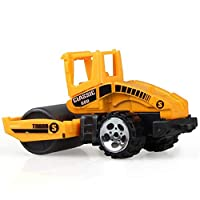 Schnuger Dog Toys Construction Excavator Car Toys Push and Go Car Vehicles Toys for Kids 1pc(street Roller)