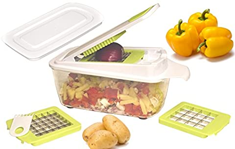 brieftons quickpush Food Chopper (br-qp-02): Zwiebel Chopper, Gemüseschneider Dicer, Obst