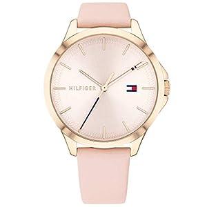 Tommy Hilfiger Reloj Analógico para Mujer de Cuarzo con Correa en Cuero 1782090