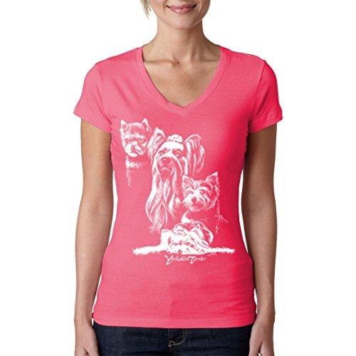 Im-Shirt - Hunde T-Shirt: Yorkshire Terrier cooles Fun Girlie Shirt - verschiedene Farben Light-Pink