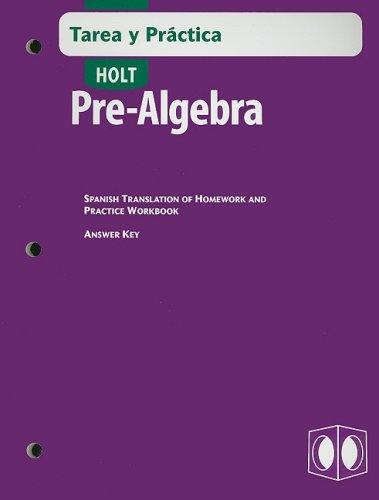 SPA-WORKBK-HOLT PRE ALGEBRA TA