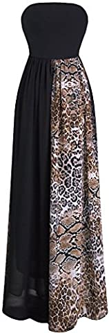 Angel-fashions Femme Bretelles en mousseline de soie Leopard Lace Up
