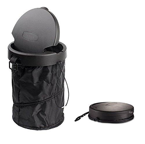 Beikal Coche Plegable Garbage Can, Bolsa de Basura Portátil para el vehículo, Universal Viaje Plegable Pop-up Cubo de Basura con Funda