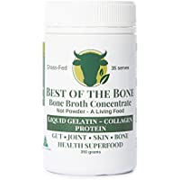 Organic Beef Bone Broth Gelatin - Supports Joint Health, Boost Immunity - Fresh, Natural Ingredients for Delicious Paleo & Gluten Free Diet Friendly Broth Soup Stock - 350 Grams