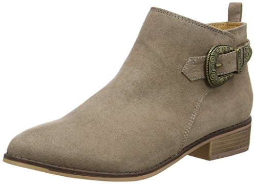 Dorothy Perkins Mary Western Buckle, Stivali Chelsea Donna marrone (Light Brown)