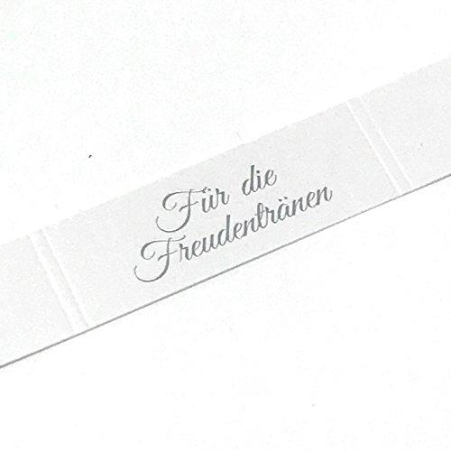 en Banderolen auf der Hochzeit für Taschentücher (Silber geprägt) (100 Stück) ()