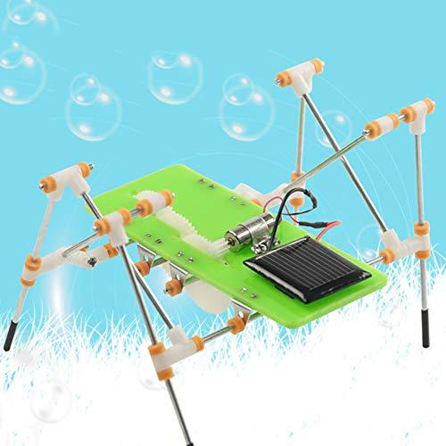 0Miaxudh Solar Quadruped Roboter, DIY Solar Power Kinder Kinder Quadruped Walking Roboter Montage Pädagogisches Spielzeug - Walking-spielzeug-roboter