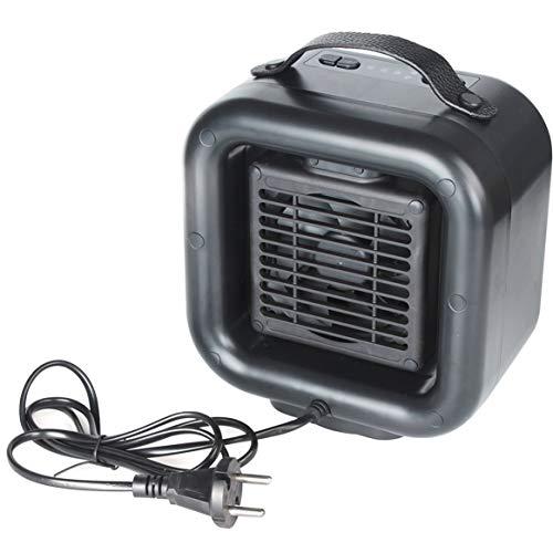 Appareil de chauffage portatif personnel PTC radiateur céramique ventilateur électrique radiateur de chauffage oscillant pour bureau à domicile - noir