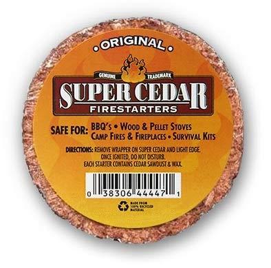 SUPER CEDAR FIRESTARTERS - 4 Pastillas encienden hasta