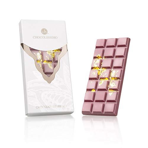 Ruby Experience-Gold - Tafel Schokolade aus feinster Ruby-Kakaobohne | Weltneuheit | Rosa Schokolade | Geschenkidee | Premium Qualität | Nach schwarz, braun und weiß kommt rosarot Schoko (Gold Schokolade)