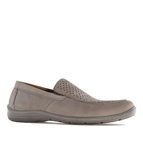 Jomos - 305216 - Herrenslipper aus grauem Leder 305216 SMOKE