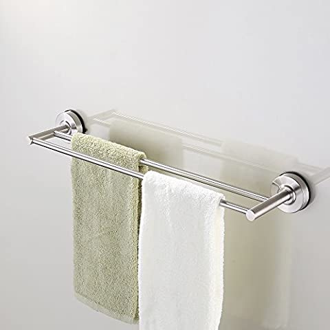 KES Suction Cup Double Towel Bar SUS 304 Stainless Steel