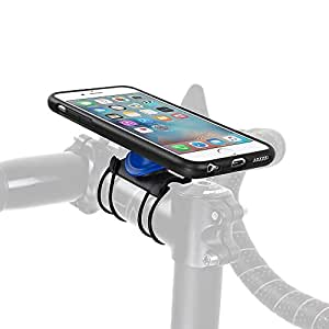 Quad Lock Kit da Bici per iPhone 6/6S, Nero/Blu