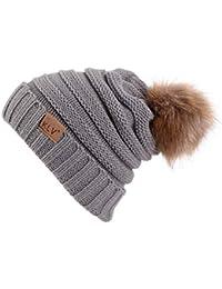 Hulday Gorros Baggy Warm Crochet Skull Tejido Beanie Esquí Slouchy Gorras  Estilo Simple Sombrero Hombres Hombres 793d348f6f9