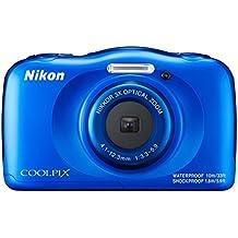 "Nikon Coolpix W100 - Cámara digital compacta de 13.2 MP (pantalla LCD de 2.7"", CMOS, Snapbridge, VR, objetivo Nikkor, USB, vídeo Full HD, WiFi) azul - kit con mochila"