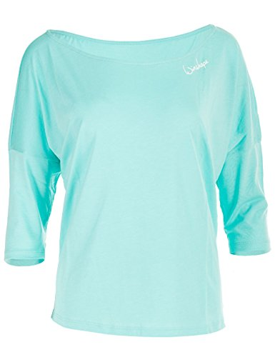 WINSHAPE Damen Dance Style, Fitness Freizeit Sport Yoga Workout 3/4-arm Shirt, Mint, M