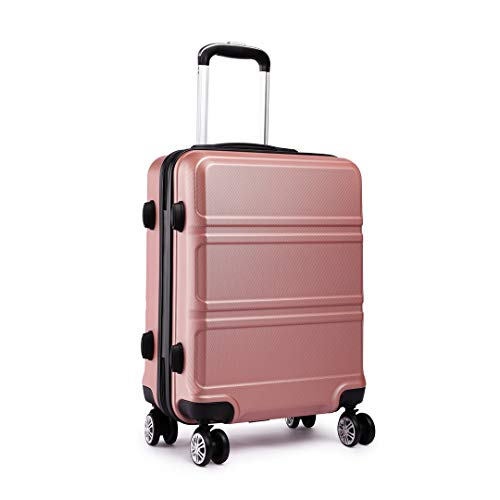 Kono Valigetta da viaggio trolley rigido con guscio rigido in ABS e trolley da viaggio con 4 ruote.nudo-S
