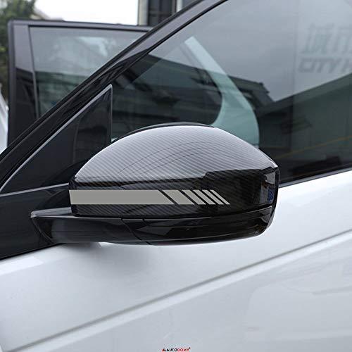Autodomy Rückspiegel Aufkleber Auto mit Streifen Design Stripes Packet mit 6 Einheiten mit unterschiedlichen Breiten für das Auto (Silber)