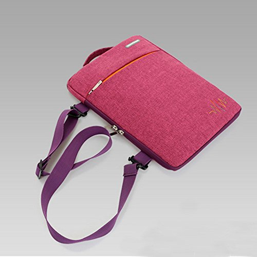 frixie (TM) ultraportatile Sleeve Custodia Per Macbook Air da 11pollici portatili, computer e tablet con tracolla rimovibile Sleeve Pouch Red Red