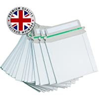 25 CD DVD 140mm x 135mm CARDBOARD SLEEVES MAILERS PEEL & SEAL ENVELOPES 350GSM FOR POSTAL USE - FREE DELIVERY