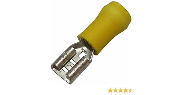 AERZETIX 100x Cosse /électrique /à oeil oeillet isol/ées M10 4-6mm2 jaune