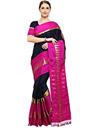 Vastrang Sarees Women's Temple Smooth Cotton Silk Saree With Blouse Piece Amazon Summer Sale_5553